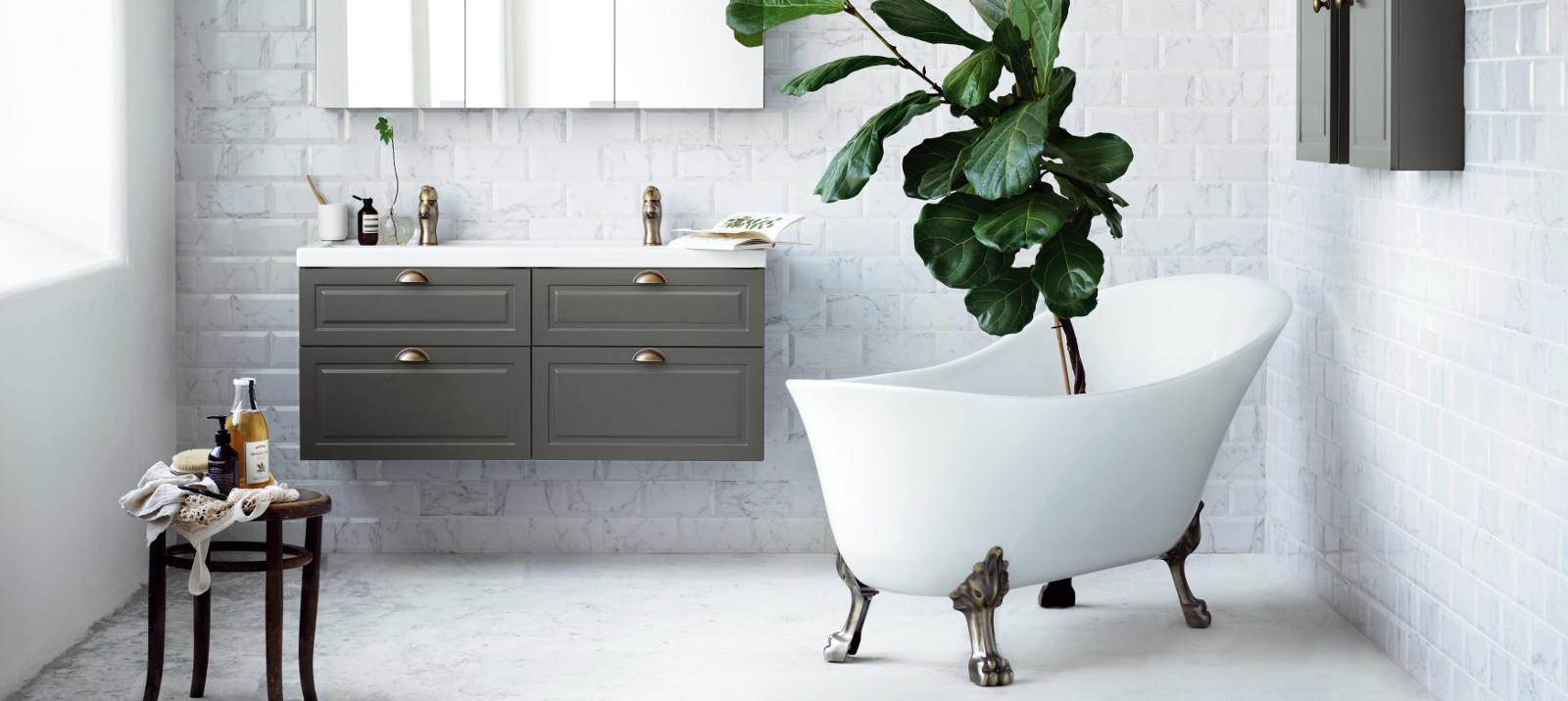 retro-henkinen ja tyylikäs kylpyhuone